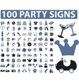party signs vector image vector image