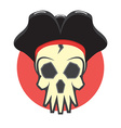 Pirate skull logo vector image vector image