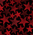 Red stars seamless pattern repeating background vector image vector image