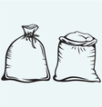 Sacks of grain vector image vector image