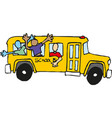 school bus kids riding on school bus vector image vector image
