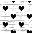 seamless black and white pattern of dots vector image vector image