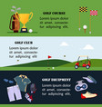 set of golf banner clothes and accessories for vector image vector image