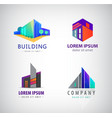 set of modern building logos company icons vector image vector image