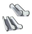 set realistic escalator stairway electronic vector image vector image