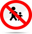 Sign no people vector image vector image