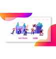 skateboarding website landing page teenagers vector image vector image