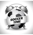 Soccer time vector image vector image