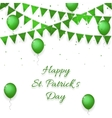 st patricks day background with balloons vector image