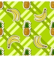 Striped Background Banana Pineapple vector image vector image
