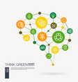 think green environmental ecology recycle and vector image