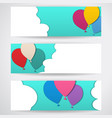 three templates of horizontal banners vector image vector image