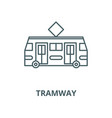 tramway line icon linear concept outline vector image vector image