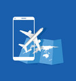 travel icon with airplane vector image