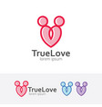 true love logo vector image