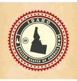 Vintage label-sticker cards of Idaho vector image vector image