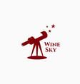 wine sky logo vector image
