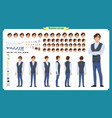young man in casual clothes character vector image