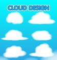 Cloud Design Set Blur Sky vector image
