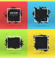 grunge backgrounds collection brush black paint vector image