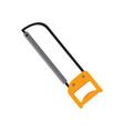 simple iron saw hacksaw graphic vector image