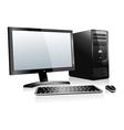 3D Desktop Computer vector image vector image