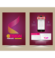 Abstract Brochure Template with smartphones vector image