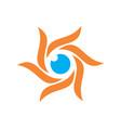 abstract sun eye logo icon vector image vector image