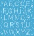 Air Bubbles Alphabet on Blue vector image