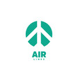airplane logo air logo airline logo airport vector image vector image