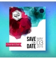 Artistic romantic Save The Date wedding template vector image vector image