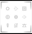astrology icons set outlined linear icons vector image vector image