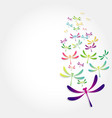 beautiful icon dragonfly vector image vector image