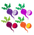 beetroot sign icon set vector image vector image