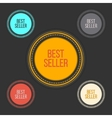 Best seller choice sign set in simple and clean vector image