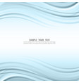 blue line background curve paper layer vector image vector image