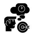 business idea - brainstorm - target goal lamp vector image