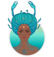 cancer astrological sign as a vector image