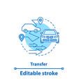 car service concept icon taxi rental idea vector image vector image