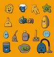 cartoon objects for clean up vector image