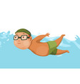 children swimming in pool cheerful and active vector image vector image
