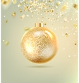 Christmas ball with curves vector image