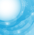 Christmas winter background with snowflakes vector image vector image