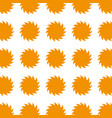 colorful pattern suns shape icon vector image vector image
