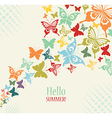Decorative Vintage Background with Butterflies vector image vector image
