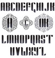 english monogrammed font in vintage style vector image