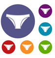 female cotton panties icons set vector image vector image