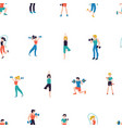 fitness club seamless pattern vector image