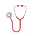 flat medical stethoscope phonendoscope isolated vector image vector image