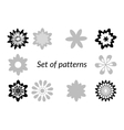Floral Patterns Silhouettes vector image